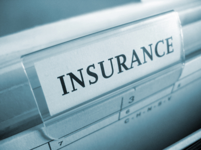 close up image of insurance tab